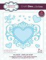 Sue Wilson Fillables Collection Dies -  Jewelled Heart CED21005 - Pre-Order 15% Off
