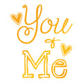 Sweet Sentiments Hot Foil Stamp - You & Me