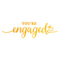 Ultimate Crafts Sweet Sentiments Hotfoil Stamp - You're Engaged ULT158090