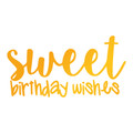 Sweet Sentiments Hotfoil Stamp - Sweet Birthday Wishes