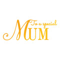 Ultimate Crafts Classic Sentiments Hotfoil Stamp - To A Special Mum  ULT158107
