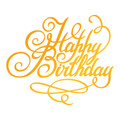 Ultimate Crafts Classic Sentiments Hotfoil Stamp - Happy Birthday  ULT158108