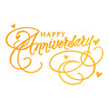 Ultimate Crafts Classic Sentiments Hotfoil Stamp - Happy Anniversary  ULT158109