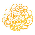 Ultimate Crafts Classic Sentiments Hotfoil Stamp - You're Engaged  ULT158112
