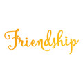 Ultimate Crafts Classic Sentiments Hotfoil Stamp - Friendship ULT158115