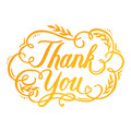 Ultimate Crafts Classic Sentiments Hotfoil Stamp - Thank You ULT158117