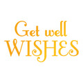 Ultimate Crafts Classic Sentiments Hotfoil Stamp - Get Well Wishes ULT158118