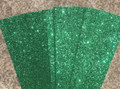 Glitter Card  A4 (210 x 297mm) - GREEN Pack of 4