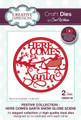 Sue Wilson Festive Collection - Here Comes Santa - Snowglobe Scene CED3118