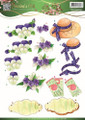 3D Cutting Sheet Jeanines Art - Garden Classics - Purple Flowers  CD10836