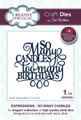 Sue Wilson Expressions Collection Dies - So Many Candles CED5429