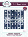 Sue Wilson Expressions Collection Dies - Alphabet Grid CED5428