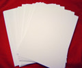 A5 Card Pack SMOOTH Unscored 250gsm - WHITE Pk 50