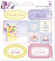 Papermania Die-Cut Toppers/Sentiments - Thanks/Thank You - 2 Pk