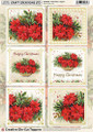 Craft Creations A4 Die-Cut Topper Sheet - Poinsettias 2 - Square