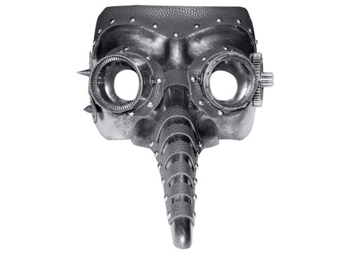 New 2017! A great mask perfect for accessorizing your favorite steampunk costume. The segmented long nose make this a mask unlike any other! One size fits all.
