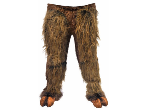 Look like your favorite hairy beast with pull on furry leg pants. Elastic band top allows for one size easy wear. One size fits most up to 52. Hooves sold separately.