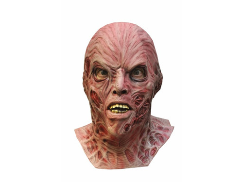 """This is the ultimate collector mask. Just as he appears in the new """"A NIGHTMARE ON ELM STREET"""" Twisted , pulled, tendony burnt flesh, all sculpted on a complete over the head latex mask. Ah! So beautiful in a sick, twisted way! One size fits most adults."""