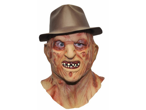 Full over the head latex mask of one of the scariest screen horror characters ever created. Each mask is individually hand painted for that Hollywood FX look. Hat included!