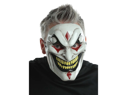 The perfect heavy-duty plastic Jester mask for any costume! Includes elastic strap & foam square at forehead for added comfort. One size fits most adults. 100% Polypropylene.