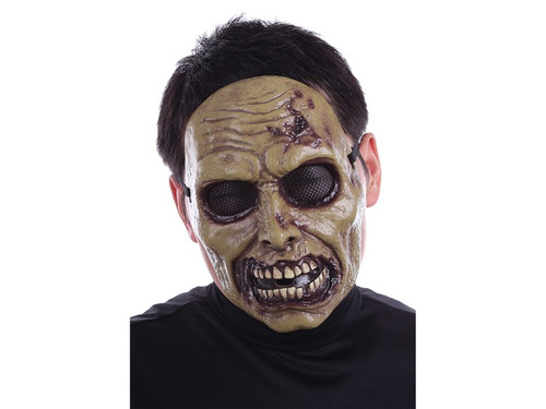 The perfect heavy-duty plastic Zombie mask for any costume! Includes elastic strap & foam square at forehead for added comfort. One size fits most adults. 100% Polypropylene.