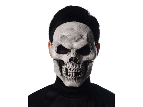 The perfect heavy-duty plastic Skull Skeleton mask for any costume! Includes elastic strap & foam square at forehead for added comfort. One size fits most adults. 100% Polypropylene.