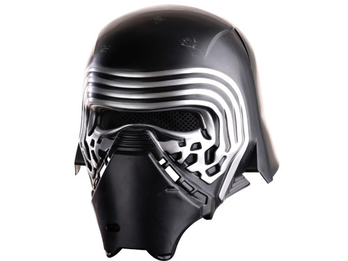 A fantastic 2-piece mask of Kylo Ren modeled after his character in the newest movie in the Star Wars series Episode Seven The Force Awakens. 2 pieces. One size fits most adults.