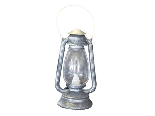 """Plastic lantern lights up red, green and blue! Colors change at one second intervals. Requires 3 LR44 button batteries, not included. Dimensions are 6"""" x 5"""" x 10""""."""