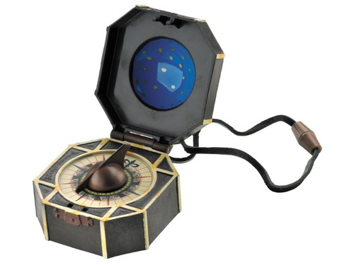 Now you can possess Jack Sparrow's compass, a powerful artifact shown in the new movie Pirates of the Caribbean 5 Once in your possession, you and Jack Sparrow can take off and plunder the high seas and know exactly where you are going for the best possible treasures! Measures 2 inches x 3 inches.