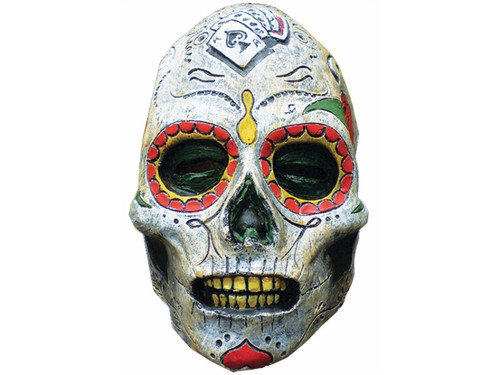 Celebrate the Mexican Day of the Dead with this classic skull design, over the head latex mask. One size fits most adults.