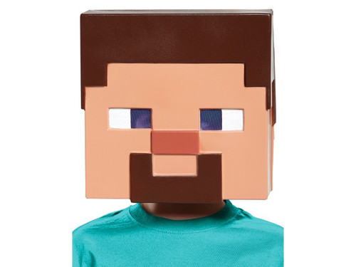 Bring the hit video game Minecraft to life and embark on a real life adventure! This Minecraft Steve vacuform half mask includes a mesh eye-plate and foam insert designed to be more comfortable for wearers and allow for an outstanding range of vision. One size fits most. This is an officially licensed Minecraft product.