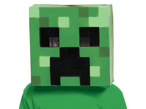 Bring the hit video game Minecraft to life and embark on a real life adventure! This Minecraft Creeper vacuform half mask includes a mesh eye-plate and foam insert designed to be more comfortable for wearers and allow for an outstanding range of vision. One size fits most. This is an officially licensed Minecraft product.
