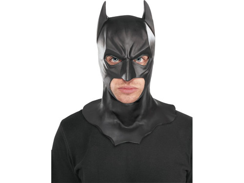 Full over-the-head latex mask of one of the most popular superheroes of all time, Batman! One size fits most adults.