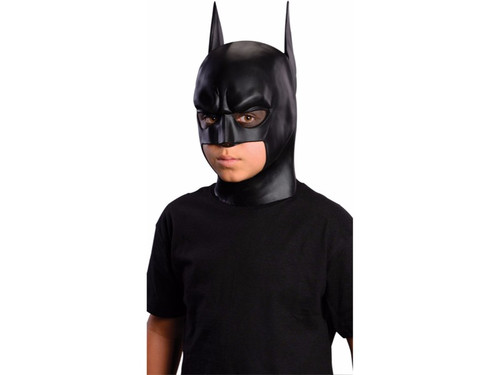 Full over-the-head latex Batman mask for children. One size fits most children.