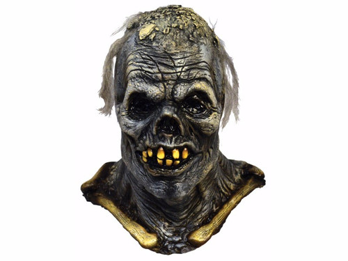 Full over the head latex zombie mask that looks just like it stepped off the pages of Tales from the Crypt Comic Book. Excellent detailing! One size fits most adults.