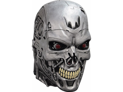 A really well-sculpted mask of the character we all know from the Terminator movies! 100% latex. Individually hand-painted for the best look. Full over-the-head mask. One size fits most adults.