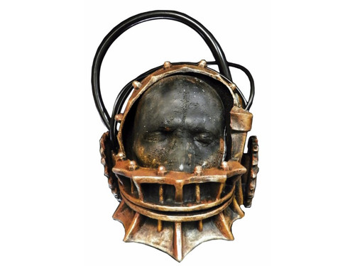 The most popular of all the torture devises in the Saw movies. Now you can appear like you just stepped out of a Saw movie with this realistic latex, metal look Reverse Bear Trap mask. One size fits most adults.