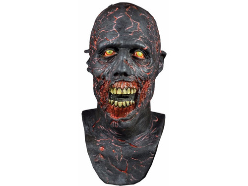 From AMC's award-winning, crazy popular show Walking Dead comes this full, over-the-head latex mask depicting a Burnt Walker. Anyone who watches the show, and there are many, will be mortified to run into anyone wearing this mask. Frightening! One size fits most adults.