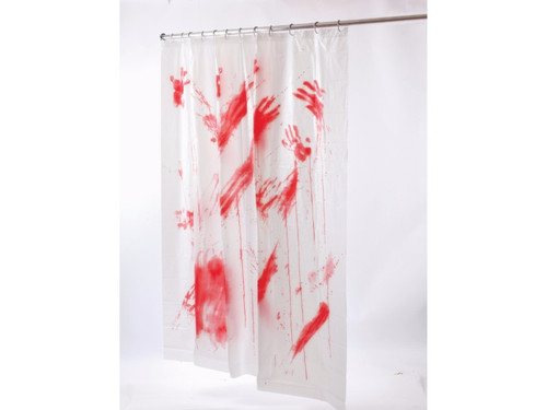 Is the bathtub the safest place to commit a murder?  Perhaps this bloody shower curtain will remind us of the Bates Motel and the psycho that slashed a guest!  At the end of the day, you can wash the evidence down the drain. If you are however looking for some sort of trophy, a bloody shower curtain will do. Put it up during Halloween and people will mistake it for a decoration but you'll know the difference...you'll know!  The curtain is really great as a halloween prop.  Let's keep it real - this is a thin curtain and not recommended to use as a real shower curtain full time.  However, it will certainly impress the guests as a prop that can impress!