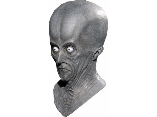 An amazing look you can create with this out of this world alien head piece.  The spaceship has landed and you can walk the earth searching for those you want to abduct.  Full over the head latex mask, individually hand painted and sculpted.