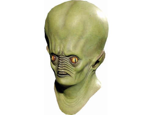 This unusual alien has landed and needs to roam the earth seeking it's next abduction.  It features a distinct green appearance with eyes that look right through you.  The details of the nose and teeth are out of this world and you will definitely get the attention of all you encounter.  Full latex mask.  Individually hand painted and sculpted.