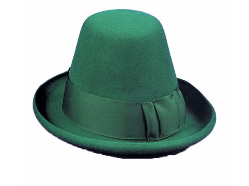 You want this Classic Irish St Patricks Day Hat.  Made with top quality felt, it is a conical top hat. A classic of the Irish. Kelly green color.
