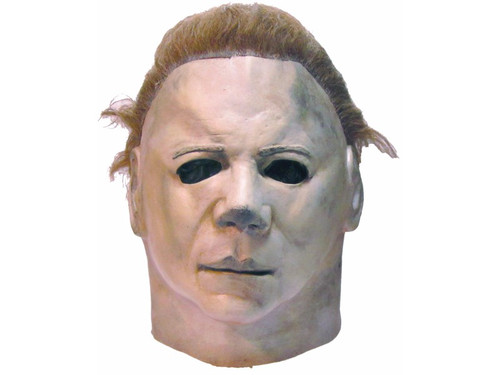 Michael Myers came home and continued to seek out his victims in Universal's Halloween II.  This mask is an identical replica of the mask worn by one of the most famous movie serial killers of all time. This movie was a spine-tingling dark ride into the scariest night of the year.