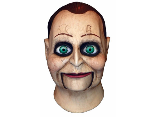 From the cult horror film hit Dead Silence comes this full, over-the-head latex mask depicting the puppet Billy. Kind of creepy and eerie, this mask will give your friend the willies. One size fits most adults.