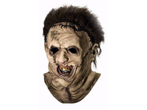 Wearing the flesh of your victims was the story line behind the Texas Chainsaw Massacre. Now you can wear an exact copy of the flesh sewn mask used in the movie. Full over the head latex mask, individually hand painted for the most grotesque look possible.