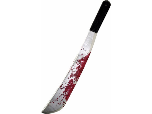 The fun is over at Camp Crystal Lake when Jason Voorhees Machete Knife comes right for you!  This sturdy, plastic knife is splattered with realistic blood and is sure to make no one feel safe!