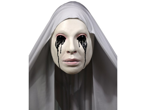 New 2017!  Asylum Nun!  Trick or Treat Studios and 20th Century Fox are proud to present from Emmy Award winning FX TV series American Horror Story: Asylum, The Nun Halloween Mask. Based off the creepy promotional cover for Season 2 of American Horror Story, complete with black blood tears & head cover.