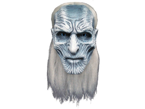 You can become one of the cool characters from the hugely popular show Game of Thrones with this cool mask. 100% latex, individually hand painted for the best look, full over-the-head mask. One size fits most adults. Mask has attached hair.