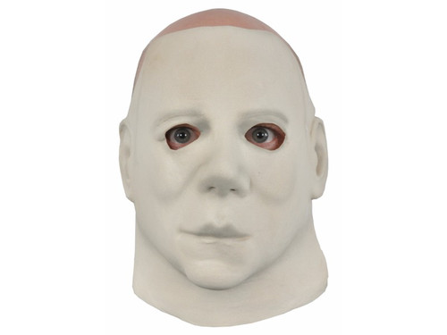 Now you can have a screen accurate replica of Michael Myers from Halloween II. This standard version is the face mask only. It uses your own hair to finish the look. All latex face mask with elastic headband for secure fit. Hair is not included. Covers face and neck.