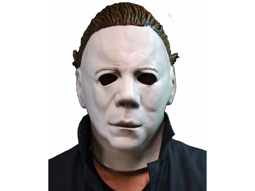 The classic Jason look! A latex full over-the-head mask with sculpted hair look. One size fits most adults.